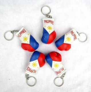 Philippines Pacquiao Boxing Mini Gloves Key Chains