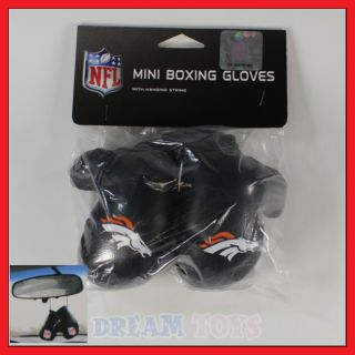 NFL Denver Broncos Mini Boxing Gloves Car Auto