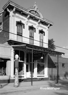 Jacob Heck Building Shell Gas Pump Cannelton Indiana