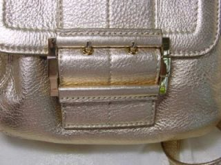 Michael Kors Messenger Camden Purse Bag Gold Leather NWT MM2M