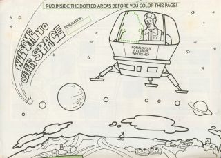 description item 1983 ronald mcdonald space explorer coloring calendar