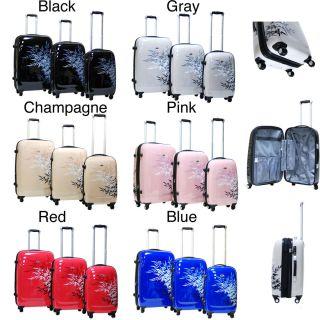 CalPak Bangkok 3 Piece Expandable Hardside Spinner Luggage Set Red