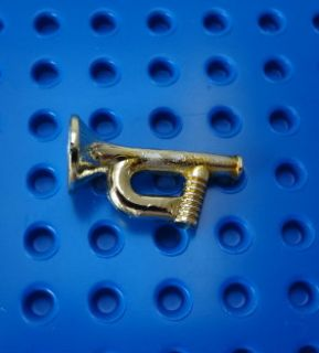 Lego Brass Colored Calvary Western Civil War Bugle