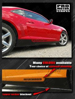 Chevrolet Camaro Lower Rocker Panel Blackout Stripes 2010 2011 2012