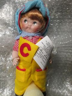 Campbell Kids Porcelain Collectible Doll NIP Campbell Soup