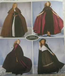 Simplicity 5794 Women Cape Sewing Pattern Renaissance Long Teresa