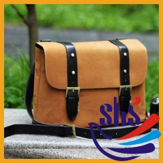 Vintage PU Leather Casual Messenger Bag SLR Camera Bag