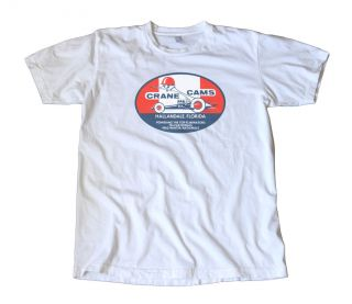 Vintage Crane Cams Decal T Shirt Hot Rod Racing