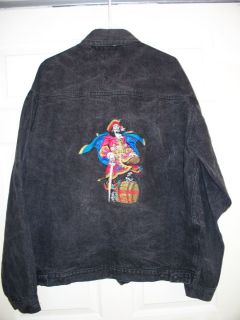 Captain Morgan Rum Liquor Jean Denim Jacket Mens XL