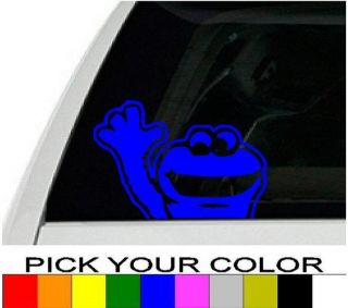 Waving Vinyl Decal Sticker Wall Window Car Sesame Street