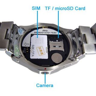 New W968 Watch Mobile Phone Spy Camera Quad Band Touch Screen