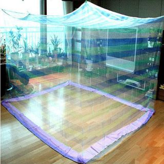 White canopy rectangle bed mosquito insect net curtains for Rectangle bed canopy