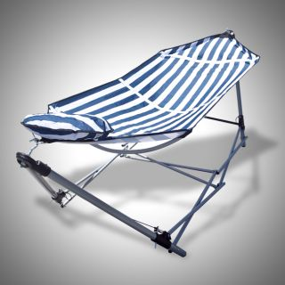 Portable Folding Hammock with Pillow Carrying Bag Beach Lounge Camping