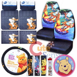 Winnie The Pooh Friends Car Seat Covers Accessories Tigger Floor Mat