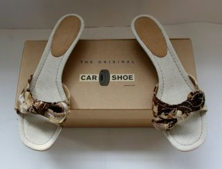 NIB Authentic Car Shoe by Prada Womens Shoes Sandals Slides Mules size