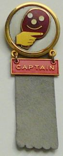 1967 Table Tennis World Championships Captain Pin RARE