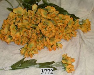Golden Yellow Campanula Silk Flowers Long Stem 3772
