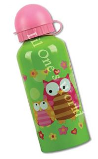 Girl Owl Stainless Steel Drinking Water Bottle 13 5oz New