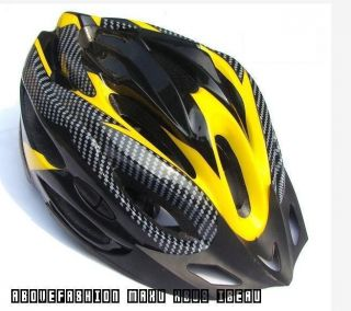 Carbon Fiber Bicycle Helmet Mountain Riding Red Ultralight Helmets
