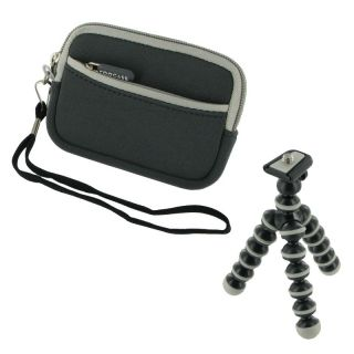 2n1 Digital Camera Sleeve Case Tripod for Canon Nikon Sony Panasonic