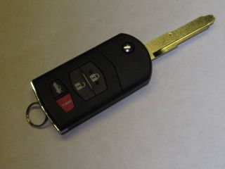 MAZDA KEYLESS ENTRY REMOTE FLIP KEY BLADE NEW KEY TRANSMITTER