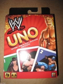 NIB WWE WRESTLING UNO PLAYING CARDS CARD GAME  I SHIP