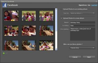 Adobe Elements 9  Quickly share your photos and videos with friends on