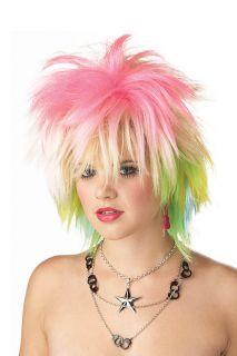 1980s Punk Pop Star Blondie Valley Girl Wig Pink