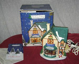 Burberry Village Porcelain Light Up Ski Shop Electric Christmas