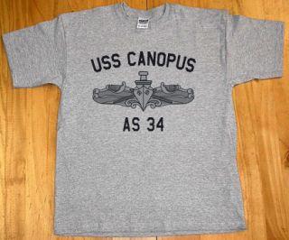 US USN Navy USS Canopus as 34 Submarine Tender T Shirt