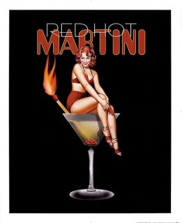 Red Hot Martini Ralph Burch Vintage Cocktails Print