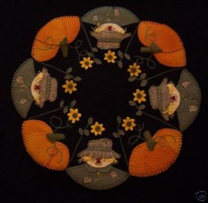 Scarecrow Jack Wool Penny Rug Candle Mat Pattern