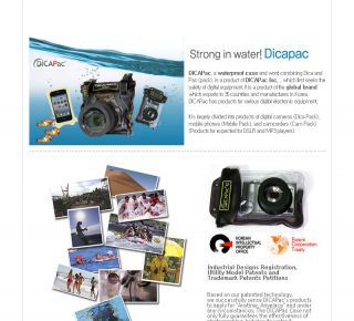 DiCAPac WP 610 Digital Camera Waterproof Housing Underwater Soft Case