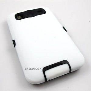 White Impact Phone Cover Hard Case at T HTC Inspire 4G