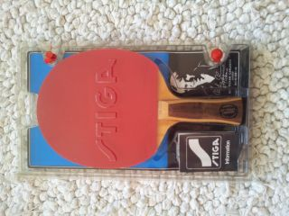 NOS STIGA ULF TICKAN CARLSSON table tennis paddle 1980s vintage yasaka