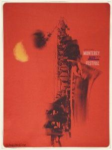 Monterey Jazz Festival Poster 1967 Dizzy Gillespie Janis Joplin