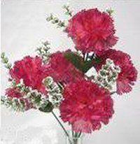 Carnations Mauve Pink Silk Wedding Flowers Bouquets Centerpieces