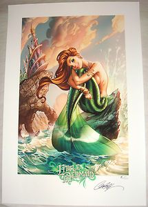 2012 J SCOTT CAMPBELL FAIRY TALES ARIEL THE LITTLE MERMAID PRINT