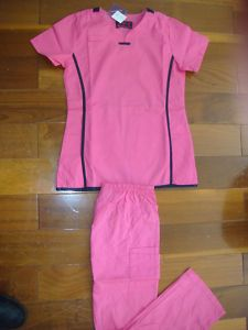Ladies Nursing Scrubs Set Carnation Pink Nurse Uniform