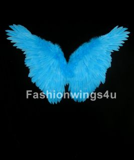 Childrens Blue Butterfly Fairy Angel Bird Macaw Costume Feather Wings