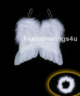 Marabou Angel Feather Wings 0 6mo Infant Newborn Baby Props with