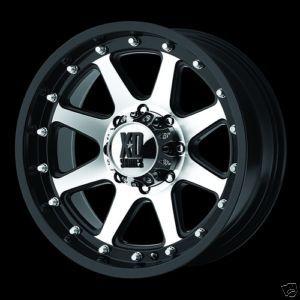 17 inch XD798 Addict Black 17x9 0 Offroad Truck Rims Wheels Set