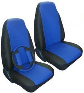 Seat Covers Car Truck SUV Synthetic Leather Blue 5 PC