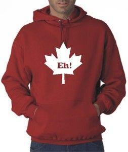 Canada EH Canadian Hockey Team Maple Leaf Hoodie T Shirt Sweatshirt