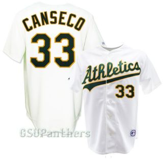 Jose Canseco Oakland Athletics As Home Replica Sewn Jersey Size M 2XL