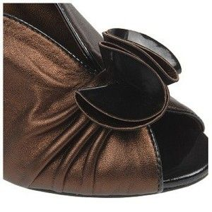 Carlos Santana Classy Dress Pump Sandal Heel Bronze