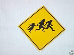 Carlos Mencia Pedestrian Crossing Sign Bumper Sticker