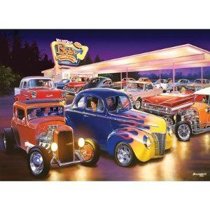 # 71209 1000 pc Jigsaw Puzzle   Burger Bobs Drive in Cars