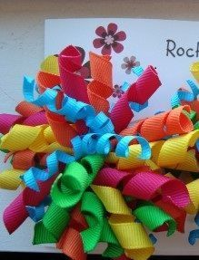 Toddler Girl Korker Hair Bow Candy Shop Bright Colors