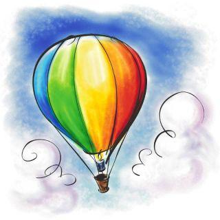Precious Baby Boy Blue Corduroy Longall w Planes Balloon Carriage